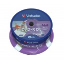 25'er DVD+R DL 8,5GB 8x Spindel